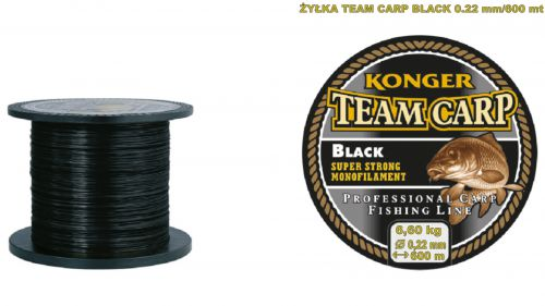 Konger Żyłka Team Carp Black - 0.22mm / 600m (Czarna)