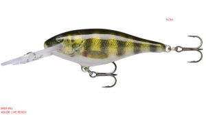 Rapala Shad Rap 9 cm Deep Runner-Live Perch
